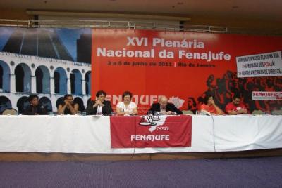XVI Plenária da Fenajufe 3 a 5-6-2011